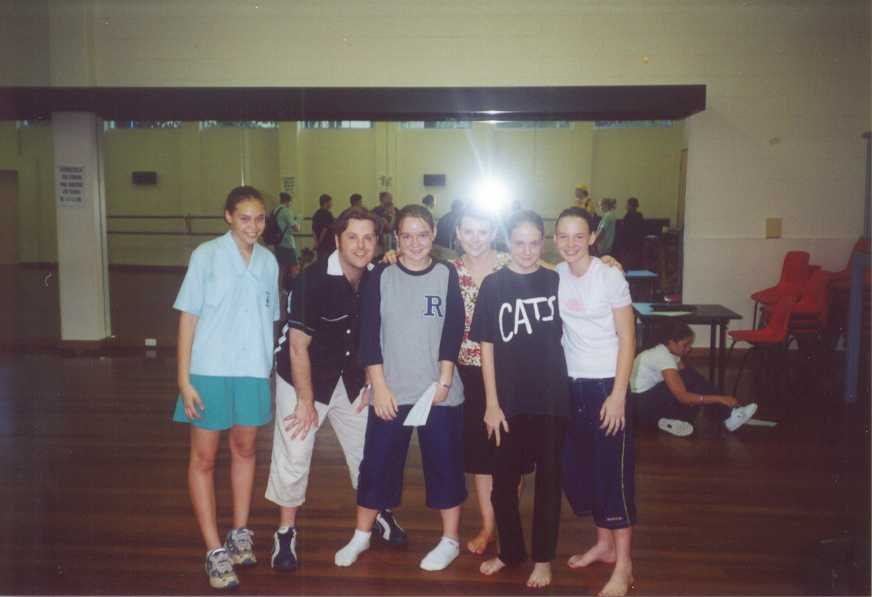 Left to right: Grace, Michael (Rodger in CATS), Tam, Julie (Jan in GREASE), me, Danielle.